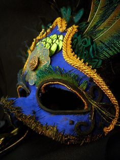 Moroccan Blue Peacock Mask by EldritchStitch on Etsy, $68.00