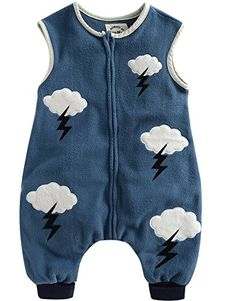 Vaenait Baby 1-7 Years Kids Boys Micro-Fleece Sleepsack Wearable Blanket Blue Cloud * Find out more details @