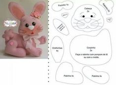 Toys made of felt. Schemes and patterns of felt toys for beginners Felt Bunny, Bunny Toys, Sewing Toys, Baby Sewing, Felt Patterns, Sewing Patterns, Sewing Tutorials, Sewing Projects, Stuffed Animal Patterns