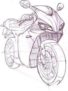 Alu Wandbild 80x60cm Fahrrad Skizze Technische Zeichnung Bild GERAHMT art.work