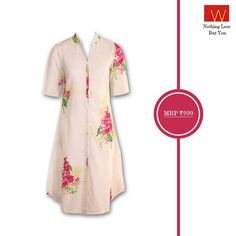 This subtle #white kurta with floral prints exhibits the #charm and #grace. Will you try this one?  Own one here : www.shopforw.com