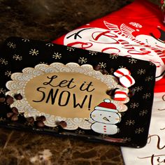 Snow Pals - Let it Snow! Snowman Black Ceramic Cookie Plate or Ceramic Serving Dish Christmas Themed Kitchenware Let It Snow, Let It Be, Square Plates, Serving Dishes, Christmas Themes, Kitchenware, Snowman, Cookie, Holiday