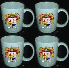 $48.99 for a SET OF 4 COAT OF ARMS / FAMILY CRESTS MUGS