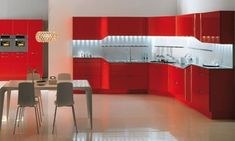 Make painting kitchen cabinet be a fun activity in your holiday: Painting Kitchen Cabinets Red Ideas ~  Decoration Inspiration
