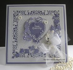 Tattered lace..Mothers Day card.