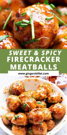 Spicy Chicken Meatballs aka Firecracker meatballs recipe with step-by-step instructions. These spicy and sweet twice-baked chicken meatballs are super easy to make and tastes delicious as an appetizer or in a meal!      #meatballs #firecrackerchicken #firecracker #chicken #chickenmeatballs #firecrackermeatballs Baked Meatball Recipe, Baked Chicken Meatballs, Spicy Meatballs, Chicken Meatball Recipes, Baked Chicken Recipes, Spicy Recipes, Cooking Recipes, Firecracker Meatballs, Firecracker Chicken