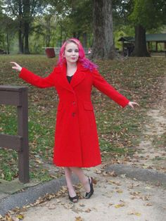 Check out this item in my Etsy shop https://www.etsy.com/listing/472673102/vintage-red-jacket-princess-coat-wool