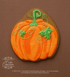 Fall Pumpkin by the Cookie Connoisseur