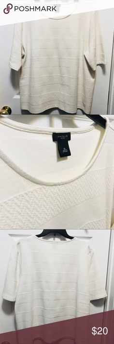 Ann Taylor Factory sweater Worn once great texture, condition, and quality Ann Taylor Factory Sweaters Crew & Scoop Necks