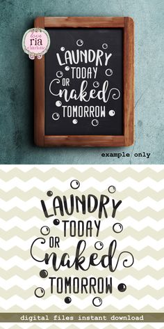 Laundry today or naked tomorrow bubble fun by LoveRiaCharlotte