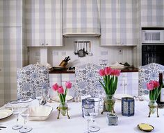 Fabric covering for your kitchen cabinets.... Jane Churchill