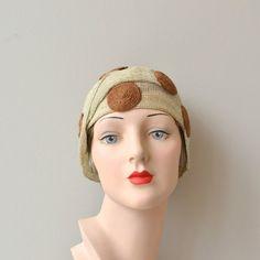 Yalla Gal cloche 1920s cloche hat vintage 20s hat by DearGolden