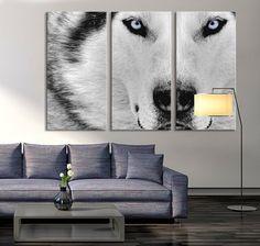 Canvas Print - Wild Wolf Canvas Art - Siberian Husky Canvas Print, Husky Print, Ready to Hanging