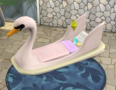 Swan Toddler Bed by BigUglyHag at SimsWorkshop • Sims 4 Updates