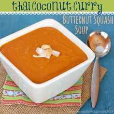 Thai Coconut Curry Butternut Squash Soup takes the classic soup and adds exotic East Asian flavors for a new twist on a traditional comfort food.