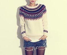 #tribal #aztec #sweater #fallfashion #doublelw