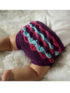 Crochet - Patterns for Children & Babies - Wearables Patterns - Crocodile Stitch Diaper Cover