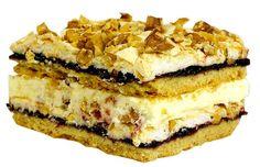 Торт «Пани Валéвска» — это невероятно вкусный торт. Один из самых популярных в Польше! Необыкновенное сочетание рассыпчатого песочного теста, хрустящего безе с орехами, джема из чёрной смородины и нежного заварного крема делают его неповторимым. Кто хоть однажды попробовал - на всю жизнь влюбляют