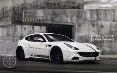 White LB Performance Ferrari FF