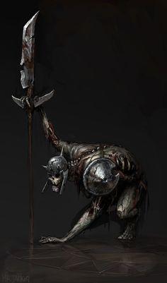 Undead Warrior 2 by Mr--Jack on deviantART Angel Warrior, Fantasy Warrior, Fantasy Rpg, Dark Fantasy, Warrior 2, Fantasy Artwork, Zombies, Vampires, Zombie Army