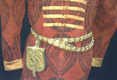 Belt and belt bag of a wealthy man. Chernihiv, Ukraine (Kievan Rus'). The 10th century. Reconstruction