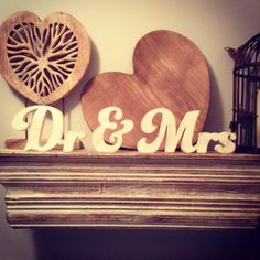 Wooden Wedding Letters  Dr & Mrs  New Funky Font  by LoveLettersMe