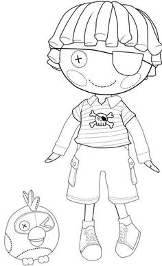 Lalaloopsy Patch Treasurechest coloring page : Printables for Kids – free word search puzzles, coloring pages, and other activities