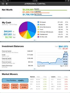 #PersonalCapital #dashboard #iPad #app