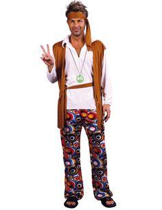 Bandeau Lunettes Collier Hippie Dress Up Set Accessoire pour Hippy 60 s 70 s Mod