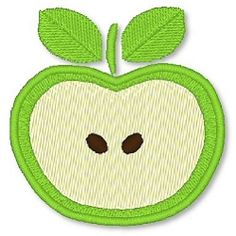Apple 4x4 - FREE! | FREE | Machine Embroidery Designs | SWAKembroidery.com