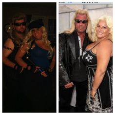Dog the Bounty Hunter and his wife Beth. Nailed it!!!
