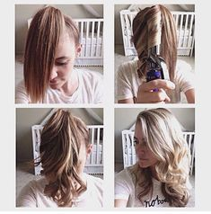 Amarra todo tu cabello en una cola alta y secciónalo para comenzar a ondularlo con la tenaza (recuerda no dejarlo más de 10 segundos en el calor). Una vez que hayas terminado, desamarra, cepilla y aplica fijador.