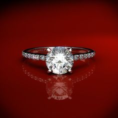 Image detail for -Solitaire Rings 2mm Knife Edge 18k White Gold Solitaire Ring