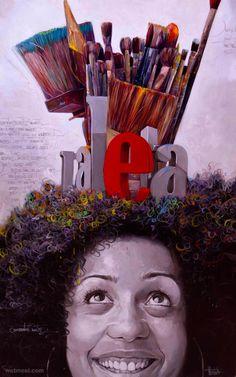 25 Beautiful and Colorful Oil Paintings by Cuba Artist Yunior Hurtado | Read full article: http://webneel.com/oil-painting-portrait-cuba-artist-yunior-hurtado | more http://webneel.com/paintings | Follow us www.pinterest.com/webneel
