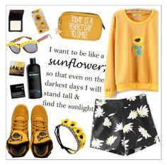 """Like a sunflower"" by teoecar ❤ liked on Polyvore featuring Wet Seal, Kipling, Full Tilt, TRESemmé, Korres and Casetify"