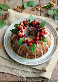 Lavender and Lovage | Spiced Cranberry and Walnut Bundt Cake | http://www.lavenderandlovage.com