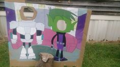 Beast Boy and Cyborg photo cutouts