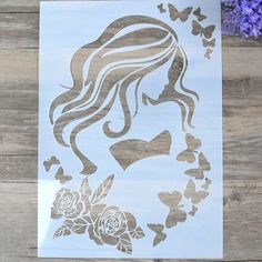 DIY Craft Layering Stencils For Wall Painting Scrapbooking Stamping Stamp Album Decorative Embossing Paper Card Beauty Template Rose Stencil, Stencil Diy, Stencil Painting, Emboss Painting, Paper Cutting Patterns, Stencil Patterns, Stencil Designs, Basic Painting, Art Template