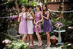 Perfectly purple! We LOVE this ombre bridal party. How perfect is this palette for a fall wedding?