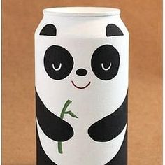 "just hanging out doing panda things. it's all good"" Relaxed lil panda Cool Packaging, Food Packaging Design, Diy And Crafts, Crafts For Kids, Arts And Crafts, Bottle Art, Bottle Crafts, Cola Dose, Panda Craft"
