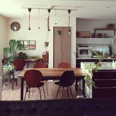 mamizoさんの、観葉植物,植物,IKEA,足場板,DIY,部屋全体,のお部屋写真