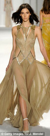 Marchesa takes a leaf from art history books for collection of sumptuous fairytale ballgowns at New York Fashion Week