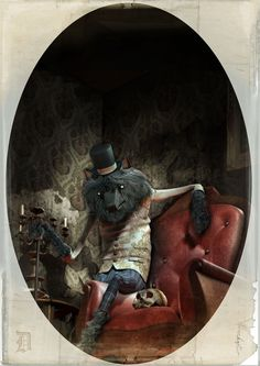 Portraits of classical monsters on Behance