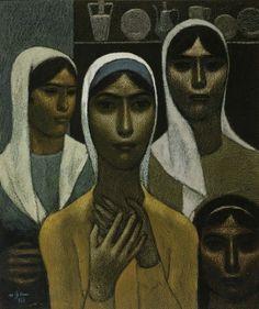Peasant Women by Nuri Iyem, 1977.