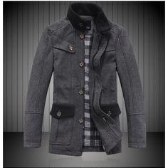 Dark grey Worsted Coat $ 37.44