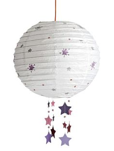 Note: Put stars on a paper lamp and add some more hanging Cool Paper Crafts, Diy And Crafts, Origami Paper Art, 3d Origami, Diy Bebe, Light Crafts, Reggio Emilia, Paper Lanterns, Diy For Kids