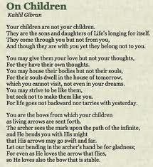 On children ~ Kahlil Gibran Poetry