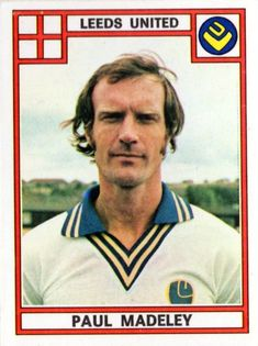 Paul Madeley of Leeds Utd in Leeds United, 1970s, The Unit, Football, Baseball Cards, Sports, Soccer, Hs Sports, Futbol