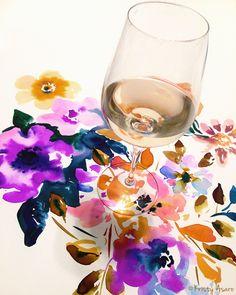 Wine & Watercolors by Kristy