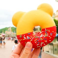 Im celebrating #WinnieThePoohDay by re-sharing this adorable donut from Hong Kong Disneyland We you Pooh (and Christopher Robin too)! Who wants to share this with me? Fun fact: This was taken in the summer and my hands were covered in icing afterward. The things we do for photos